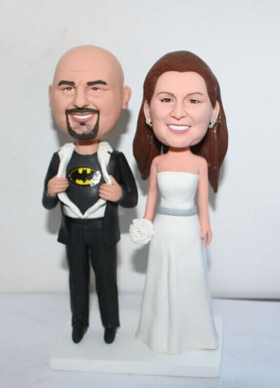 Custom Batman custom wedding cake toppers