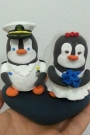 Custom Wedding cake toppers penguin police