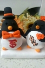Custom Penguins custom wedding cake toppers