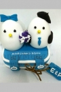 Custom Wedding cake toppers love birds