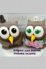 Custom Wedding cake toppers Owls