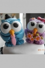 Custom Owls custom wedding cake toppers