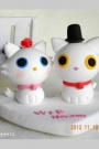 Custom Wedding cake toppers cats bride groom