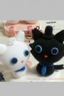 Custom Wedding cake toppers cats white and black