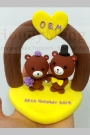 Custom Wedding cake toppers bears bride groom