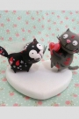 Custom Wedding cake toppers playing cats