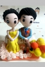 Custom Cute cartoon wedding cake toppers