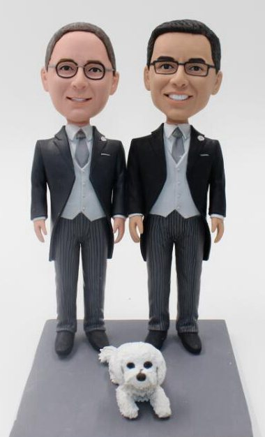 Custom Custom gay wedding cake topper make look like you